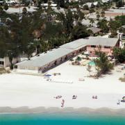 White Sands Vcation Rentals From the air on Anna Maria Island, Florida